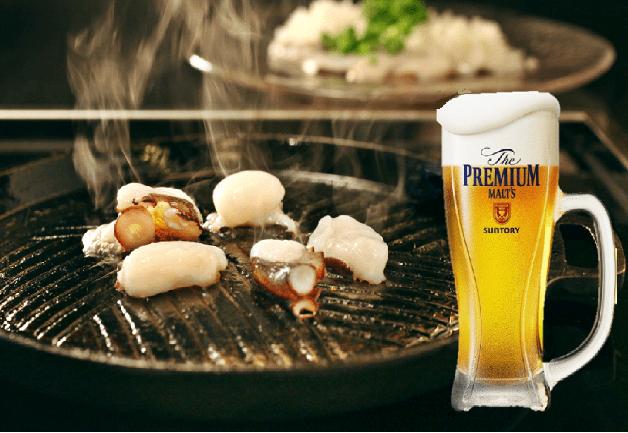「居酒屋 武蔵」で名物「地ダコの鉄板焼き」と「プレモル」を味わおう!