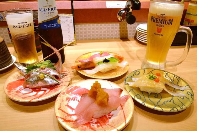 【ジ アウトレット 広島】「すし鮮」で瀬戸内海の旬魚を堪能!おいしい回転寿司と「プレモル」を楽しもう