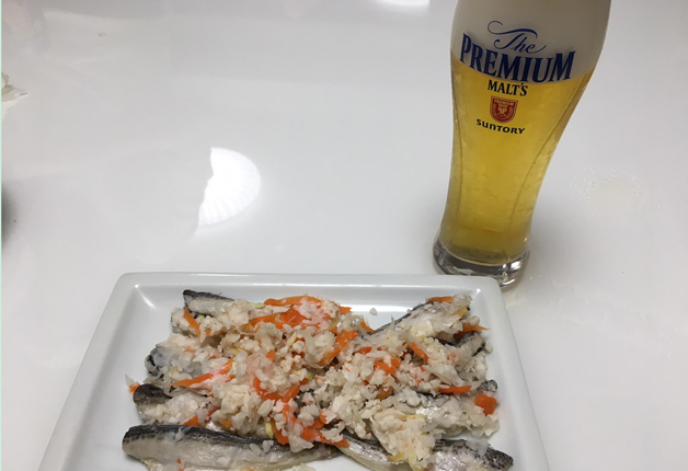 正月の定番料理「飯寿司(いずし)」は「ザ・プレミアム・モルツ〈2018 干支デザイン(戌歳)〉」とご一緒に♪