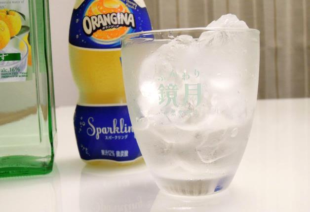 グラスのアップ