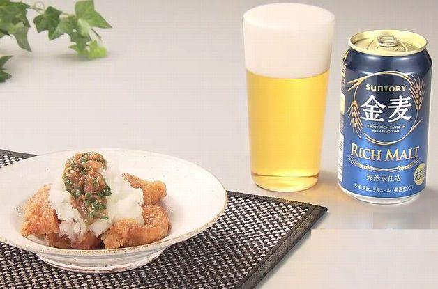 【「金麦」幸せレシピでカンパイ!】ザンギを大根おろしでさっぱりとアレンジ♪「梅ねぎおろしザンギ」