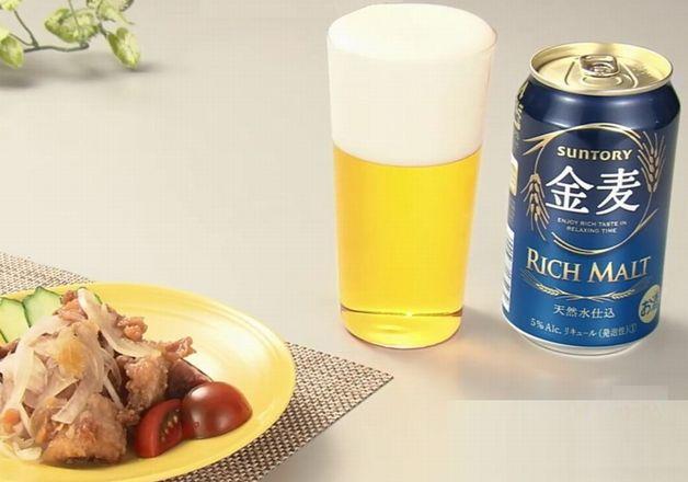 【「金麦」幸せレシピでカンパイ!】梅の酸味がさっぱりとしておいしい「揚げいかと玉ねぎのうめぽん和え」