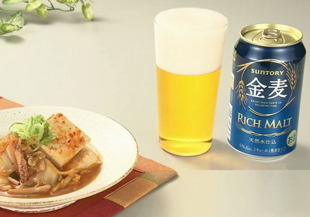 【「金麦」幸せレシピでカンパイ!】だしの香りとキムチの旨みが絶妙!「豆腐のキムチ煮」