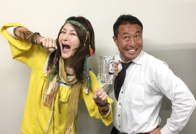アンジェラ佐藤さんが「メガハイボール北海道大使」に就任しました!