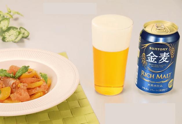 【「金麦」幸せレシピでカンパイ!】爽やかな酸味が食欲をそそる「トマトのガーリックチーズ炒め」