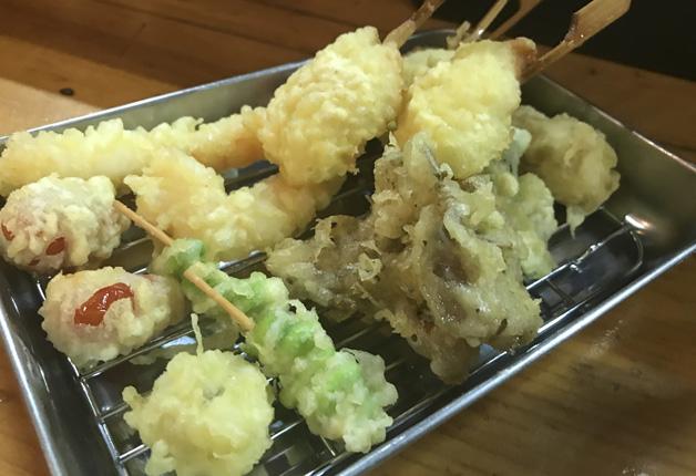 【札幌・麻生駅】サクサクジューシーな「串天ぷら」に舌鼓♪「名物串天ぷら 肉天ワンダー」
