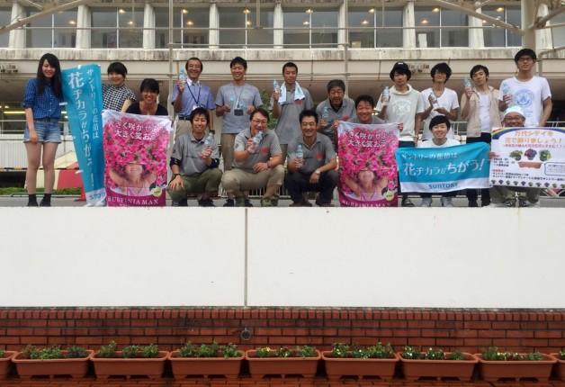 新潟県「万代シテイ」を花でいっぱいに♪地域の皆さんと「ミリオンベル」を植えました!