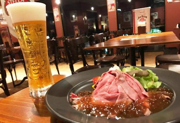 新潟・燕三条の人気店「県央バル ぱぷりか」で自慢の自家製ローストビーフと「カールスバーグ」で乾杯♪