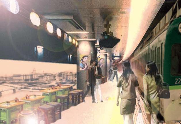 (終了しました)「中之島駅ホーム酒場」6月22~25日限定オープン、ホームがレトロ感あふれる酒場へ