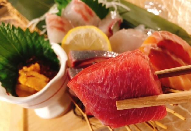 新鮮な魚介や「鴨しゃぶ」に舌鼓♪「隠れ家 座頭市」で和食と「ザ・プレミアム・モルツ」を味わおう!(大阪・北新地)