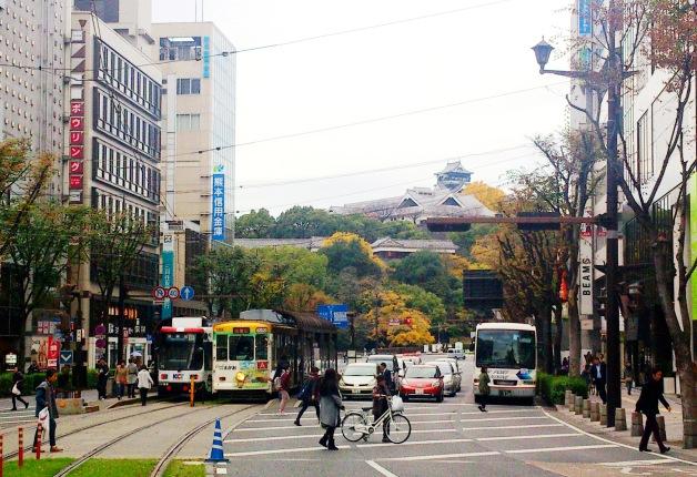 「熊本城周辺・上通並木坂」