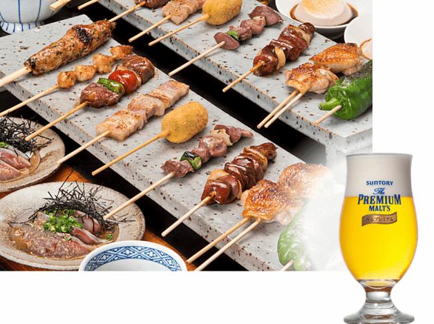 話題の「ザ・プレミアム・モルツ〈香るプレミアム〉」樽生ビールが楽しめる♪九州の繁盛店「焼とりの八兵衛」