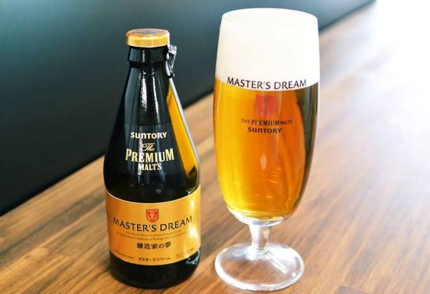 「ザ・プレミアム・モルツ マスターズドリーム」瓶とグラス