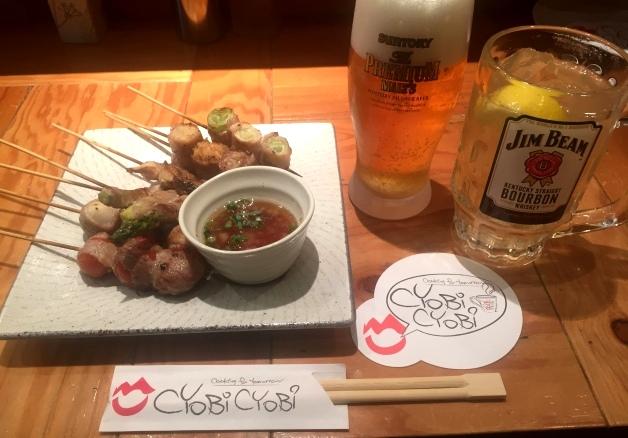 長崎のビームハイ酒場「CYoBi CYoBi(チョビチョビ)」で本格炭火焼!