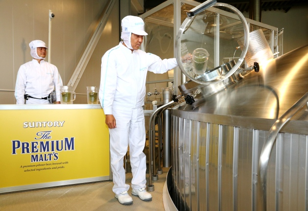 サントリー九州熊本工場で「ザ・プレミアム・モルツ」の仕込を再開しました!