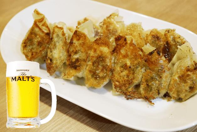 【福岡・行橋の新店】「餃子酒場トラハチ」で野菜たっぷり名物餃子と「ザ・モルツ」を堪能♪