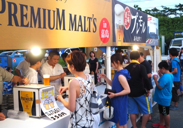 「かしま水の郷まつり」がイオンモール熊本で開催!嘉島町応援企画として「ザ・プレミアム・モルツ」の売上金相当額を嘉島町に寄付しました