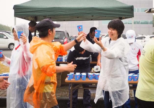 【サントリー水の国くまもと応援プロジェクト】「第26回 益城町ジョギングフェア」運営ボランティアを実施しました!