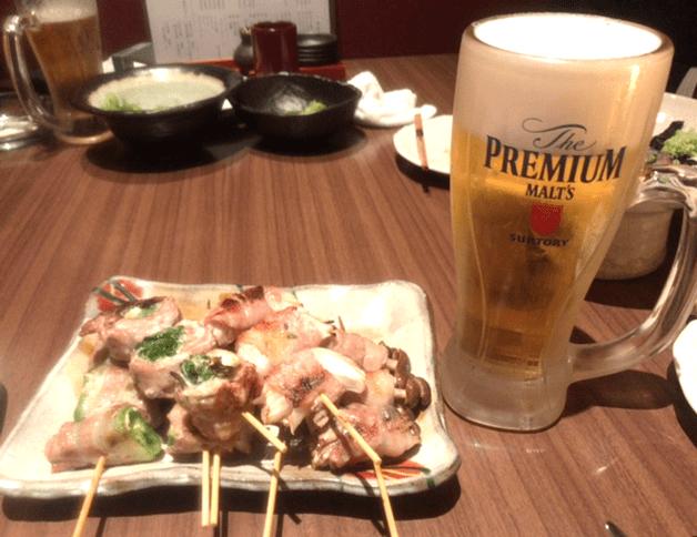 【プレミアム達人店】「博多やさい巻き串 虎乃家」(福岡・西中洲)で朝引き地鶏の串と「プレモル」を一緒に楽しもう♪