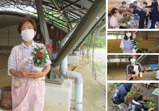 【サントリー水の国くまもと応援プロジェクト】熊本豪雨から約1年、熊本県球磨村の仮設住宅にお住まいの方々へ「サンパラソル」をお届けしました!