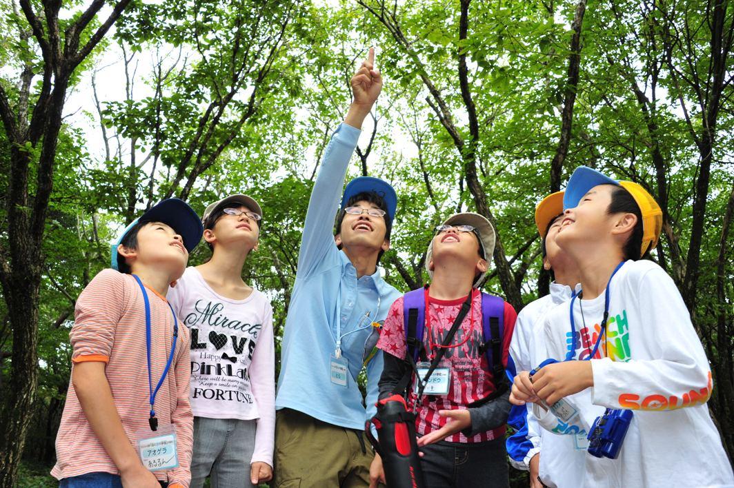 """(終了しました)【参加募集中】""""水のうまれる森""""に遊びに来ませんか?サントリー水育(みずいく)「森と水の学校」阿蘇校"""