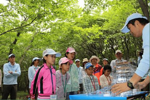 工場スタッフが体験!水育(みずいく)「森と水の学校」阿蘇校