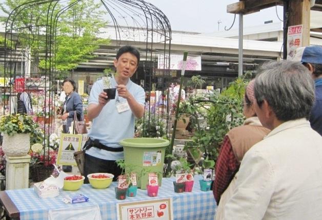 (終了しました)【ジョイフル本田でGWに開催!】サントリーフラワーズ「本気野菜」の試食&育て方講座