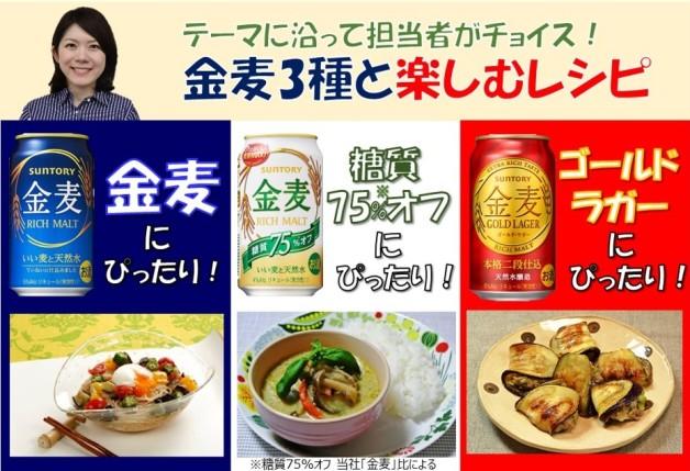 【夏野菜なす】担当者オススメの「金麦」3種と楽しむレシピをご紹介します♪
