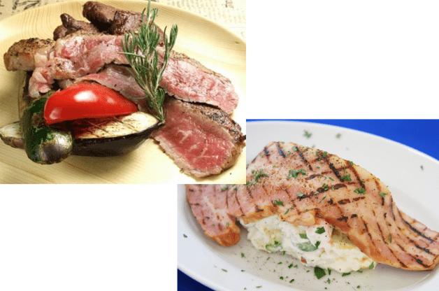 グリル肉料理と肉屋のポテサラ