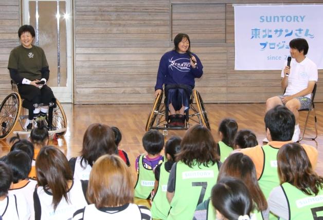 上村選手と増子選手のトークセッション