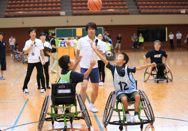 8月仙台で行われたチャレンジド・スポーツ体験教室