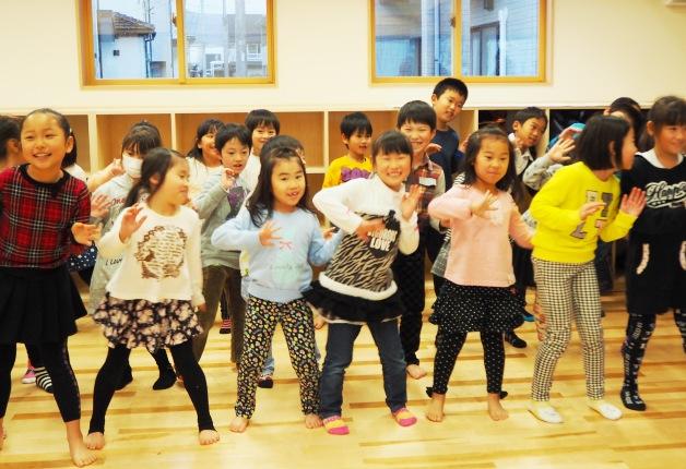 相馬市中央児童センター第二児童クラブの子どもたち