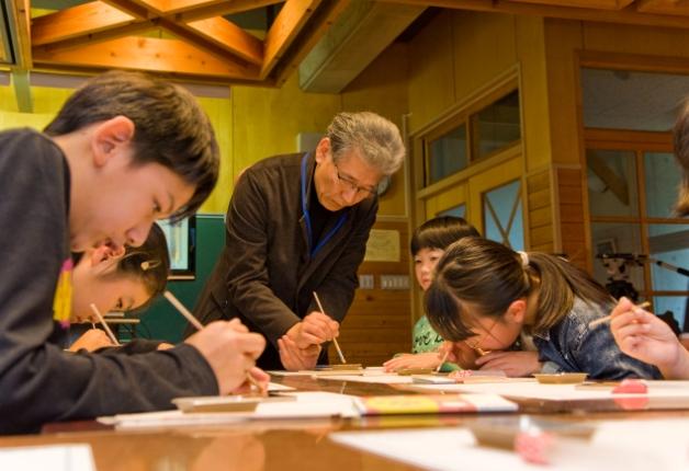 岩手県釜石市立白山小学校の様子