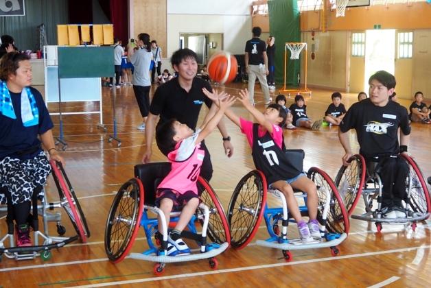 福島県いわき市で「車いすバスケットボール体験教室」を開催!いわき市出身のチーム「宮城MAX」キャプテン豊島英選手も講師として参加!