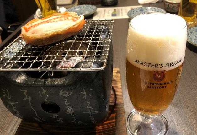 【秋田ガーデンテラス】新鮮な蟹を炉端焼きで味わえる和食居酒屋「蟹炉端焼 チロリ 火鉢庵」