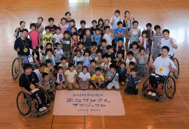 【東北サンさんプロジェクト】建設費用支援を行った福島県の学童施設で夏のプログラム支援を行いました!