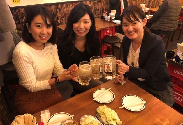 【第2回・仙台の酒場で女子会!シリーズ】「大衆酒場 おにやんま3号店」で居酒屋料理と「ビームハイ」で乾杯♪