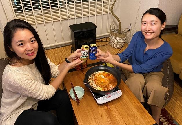 【仙台の酒場で女子会!シリーズ 番外編】 今夜は自宅でチ金麦鍋女子会!〆は「チ金麦ぶっこみ飯」で愉しみましょう♪