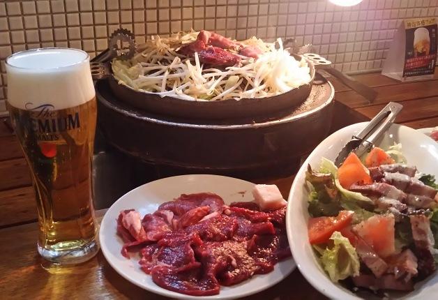 名古屋「ジンギスカン鐵(てつ)」で新鮮なラム肉と「神泡」の「プレモル」で楽しいひとときを過ごそう♪