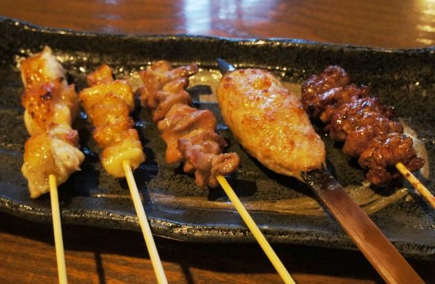 5本の串焼き