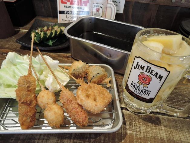 【担当者おすすめ】サクサクの串カツと「ジムビームハイボール」で乾杯!名古屋駅西口すぐ「なにはともあれ」