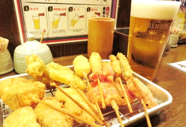 【石川の超達人店】金沢片町の「串かつ ずーさん」!アツアツの串かつと「プレモル」で至福のひとときを♪