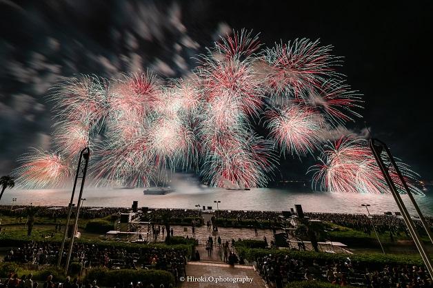 (終了しました)10月12日開催!「名港水上芸術花火2019」壮大な花火を「プレモル」や「伊右衛門 特茶」とともに楽しもう♪