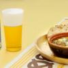 【「金麦」と合う簡単レシピ】マッシュルームにつくねを詰めた新食感!「つくねときのこのアヒージョ」