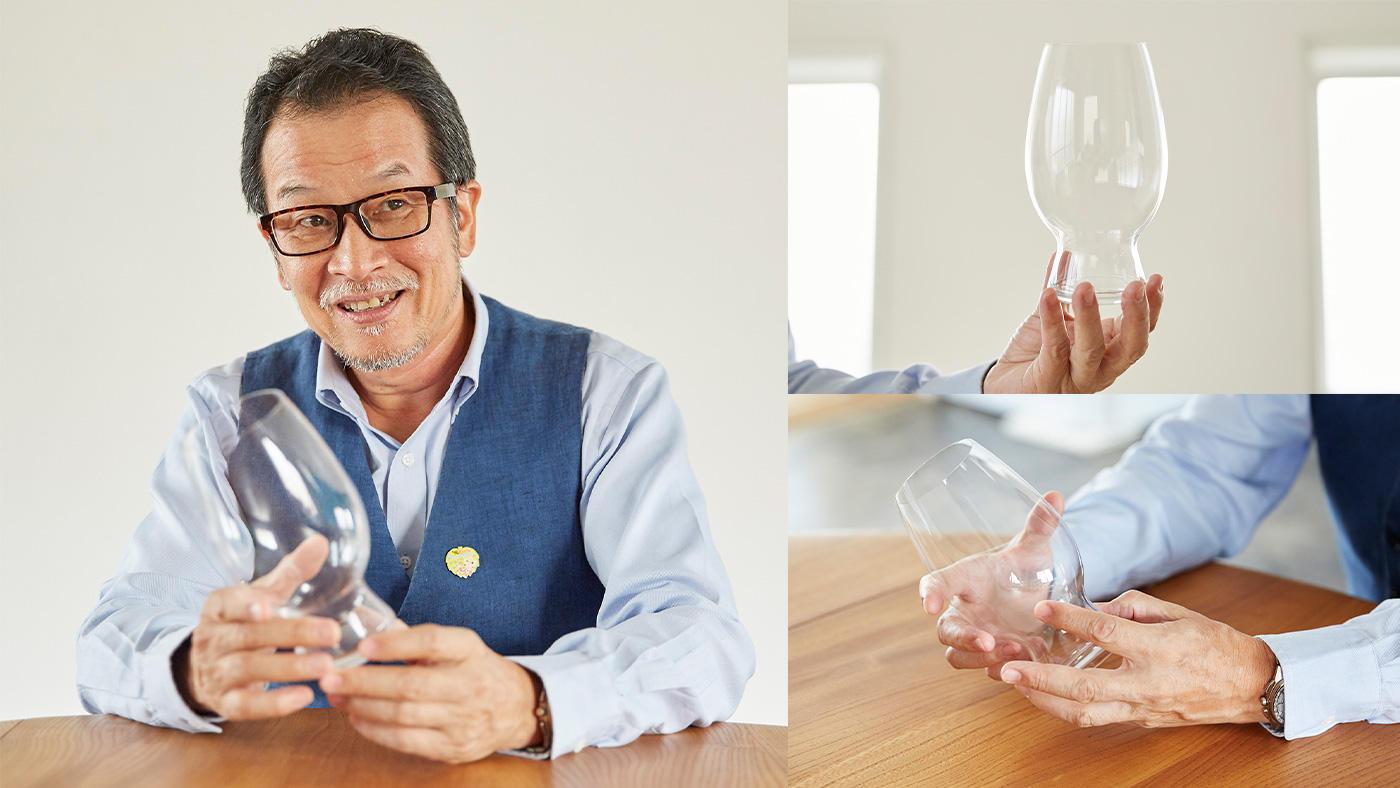 「グラスの形によって引き出される個性が違う」のイメージ