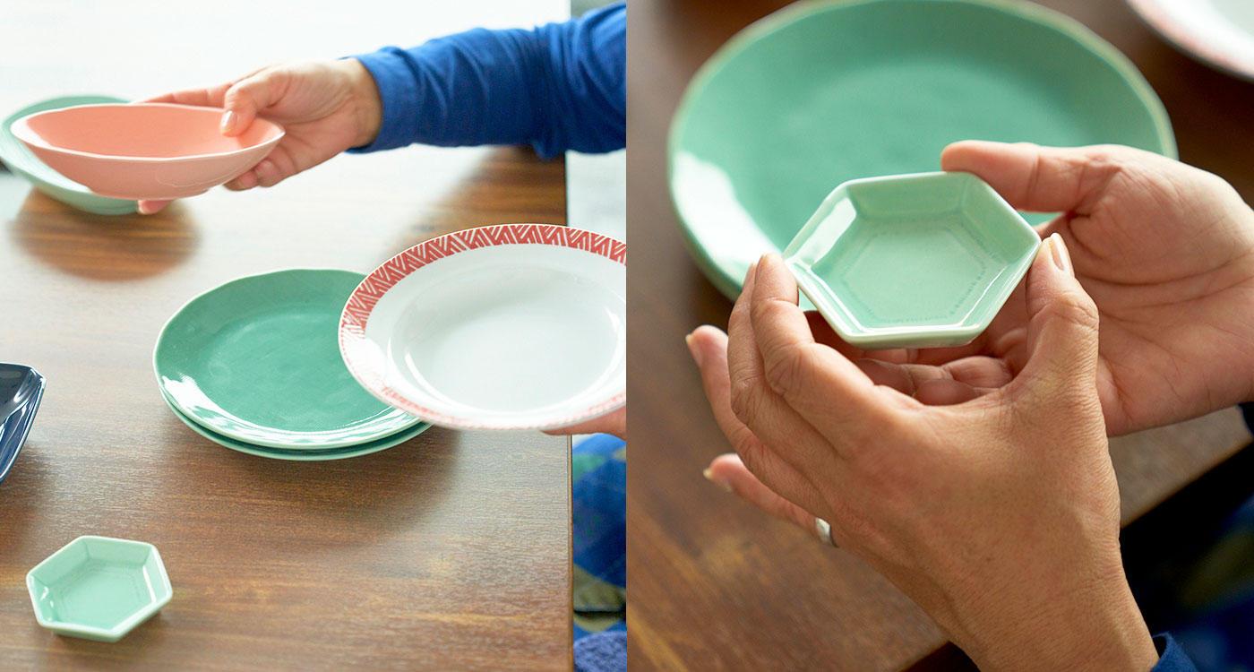 「今年は初の「赤い器」と4枚組の「豆皿」に注目!」のイメージ