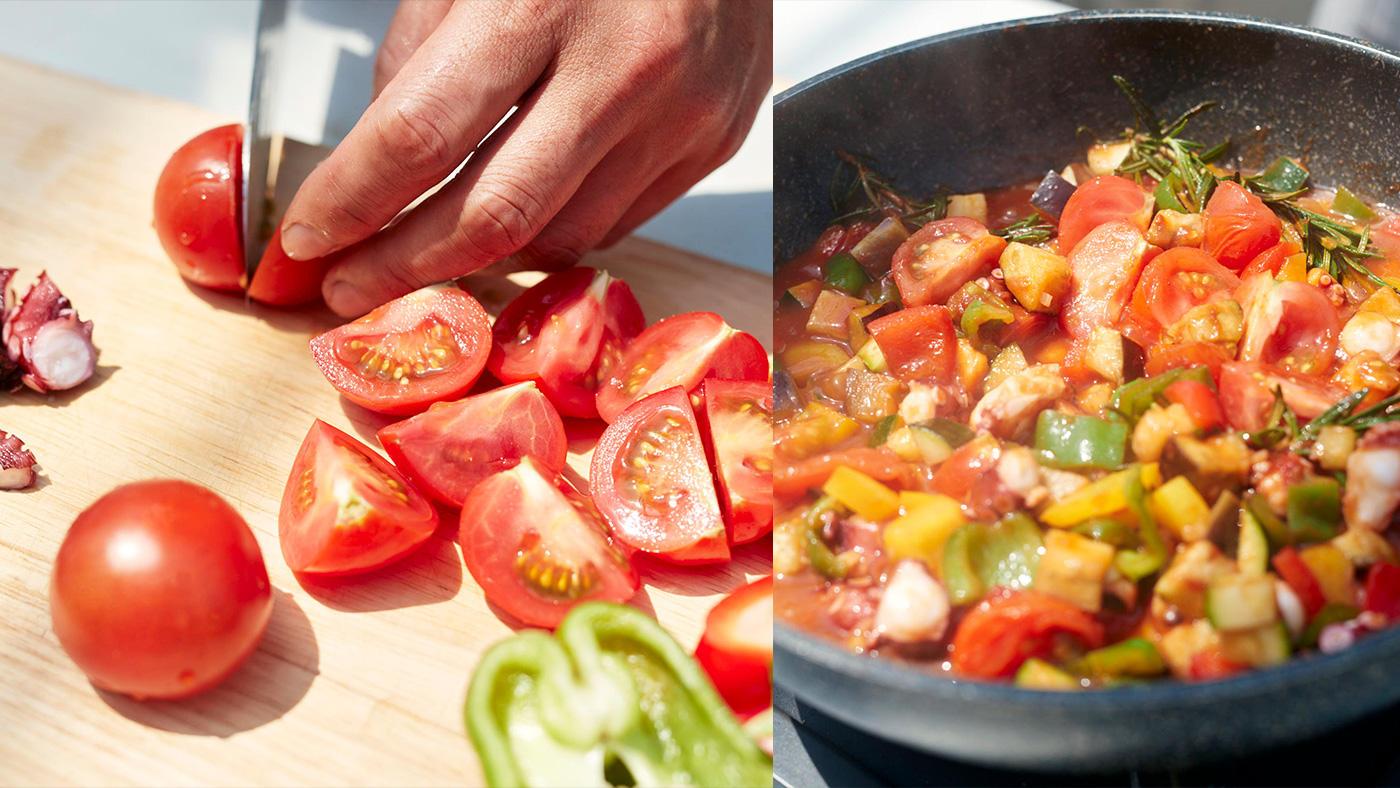 「トマトの個性を生かして和える・煮る・焼く」のイメージ