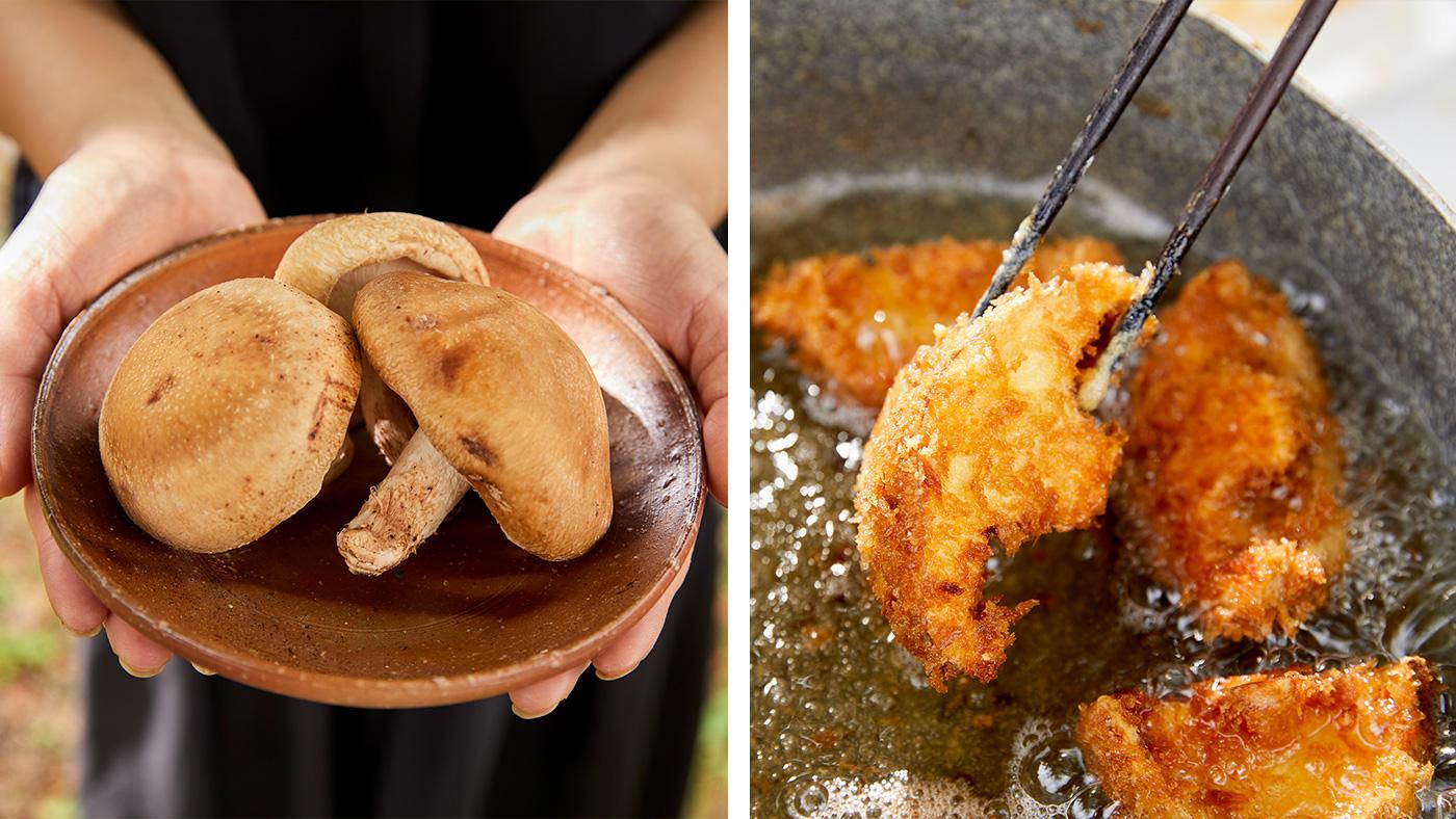「洋風アレンジが新鮮な「椎茸の肉厚フライ」」のイメージ