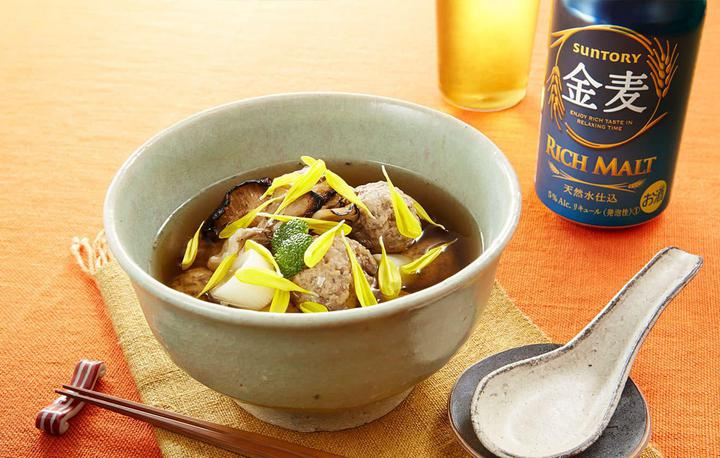 秋刀魚と炙り舞茸のつみれ汁
