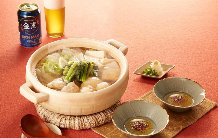 野沢菜漬けと鶏肉の変わり鍋